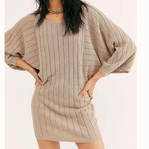 NWT Free People Dolman Sleeve Mini Dress Slouchy